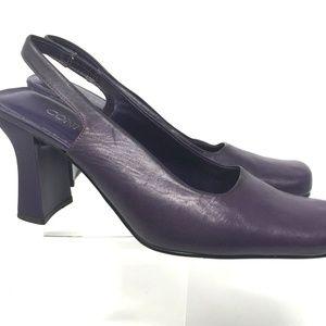 Connie Women's Shoes Size 8M Black Leather Pumps